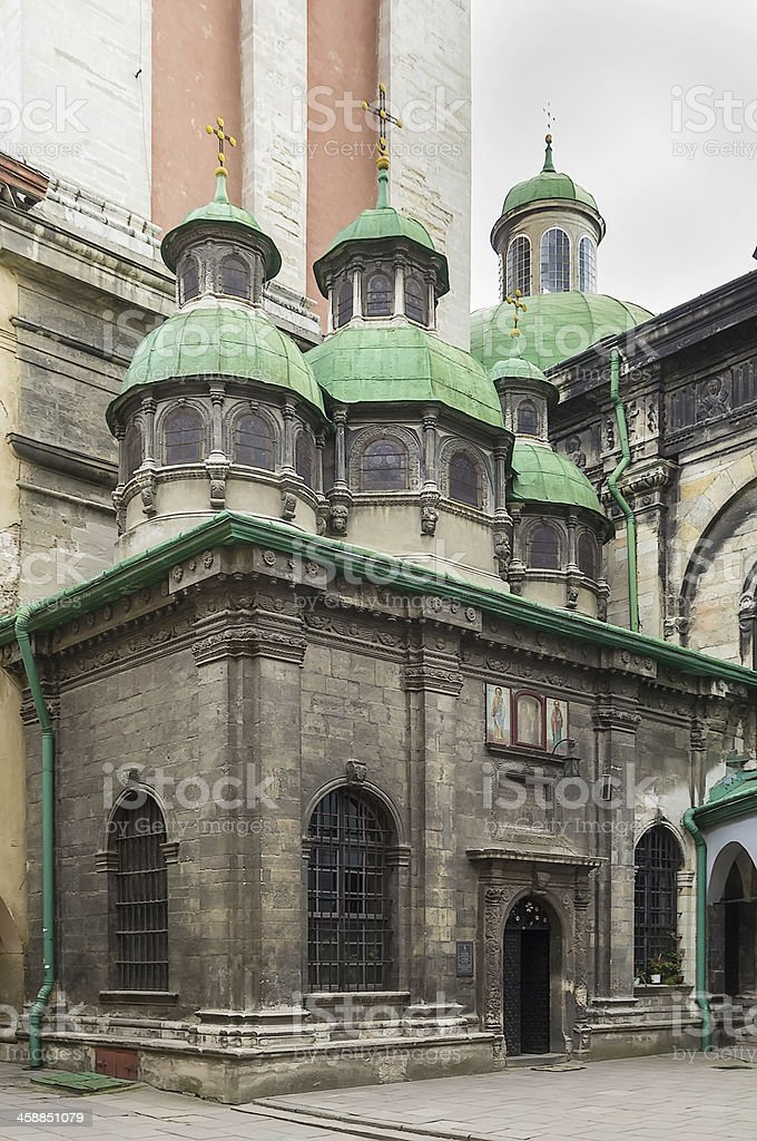 Chapel of Three Prelates, Lviv stock photo