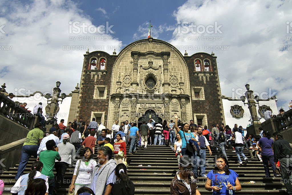 Chapel on Tepeyac Hill stock photo