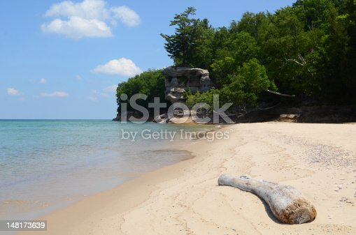 136169151 istock photo Chapel Rock at Pictured Rocks National Lakeshore 148173639