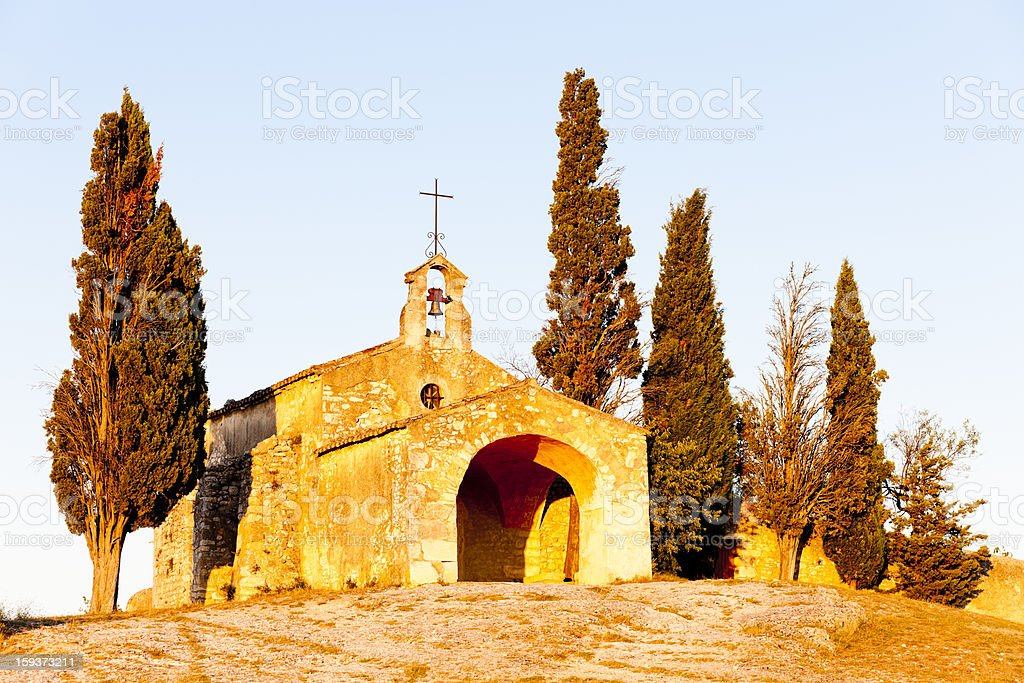 Chapel St. Sixte, Provence royalty-free stock photo