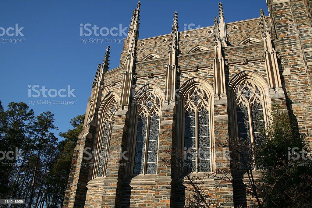 Chapel windows stock photo