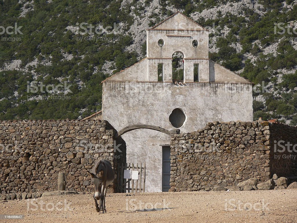 Capilla con asno royalty-free stock photo