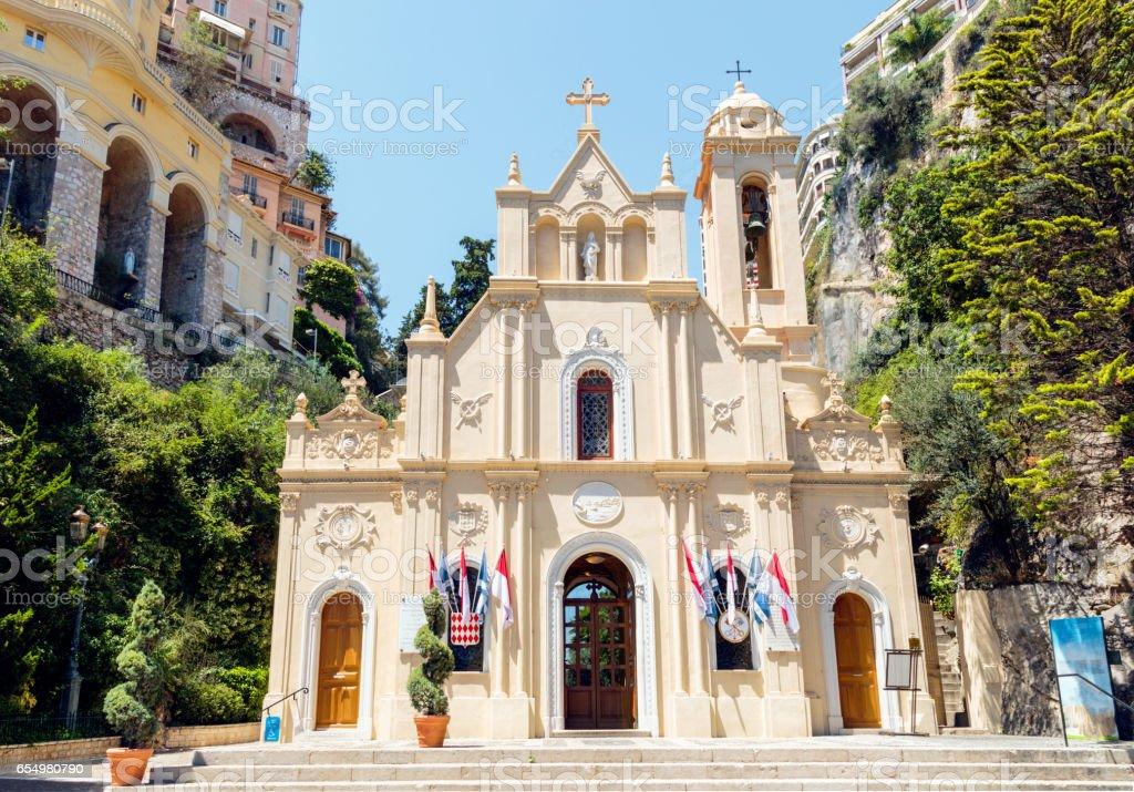 Chapelle de la Misericorde in Monaco stock photo