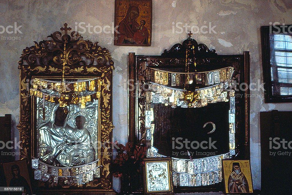 chapelle en Crête stock photo