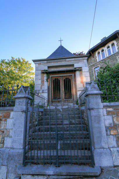 chapelle leloup in spa, belgium - spa belgium stock photos and pictures