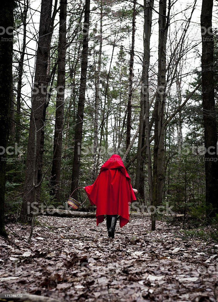 chaperon rouge automne, Little Red riding hood royalty-free stock photo