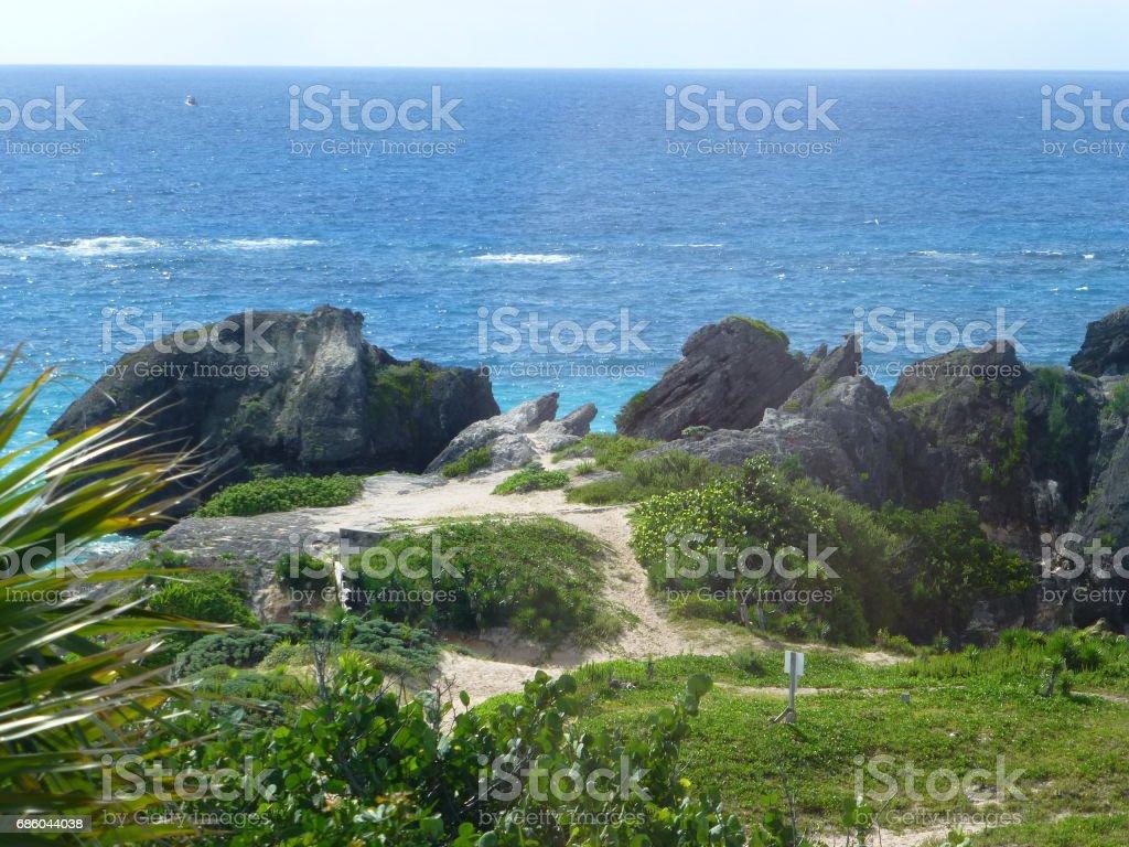Chaplin Bay, Bermuda stock photo