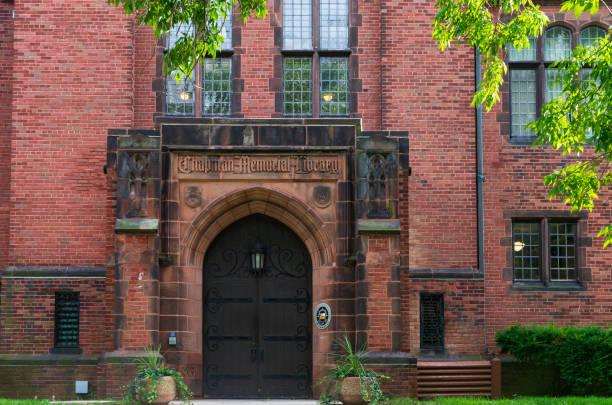Chapman Hall Building Entrance in Milwaukee stock photo