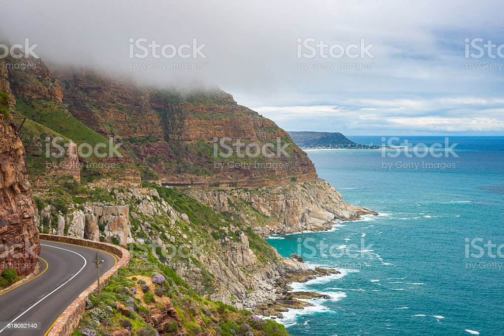 Chapman's Peak Drive, Cape Town, South Africa stock photo