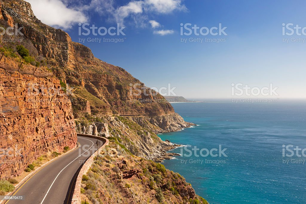 Chapman's Peak Drive near Cape Town in South Africa stock photo