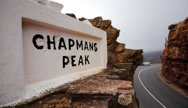 Chapman's Peak drive pass Cape Town HoutBay South Africa Chapman's Peak drive pass Cape Town HoutBay South Africa hout stock pictures, royalty-free photos & images