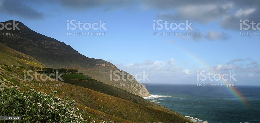 Chapman's Peak Road, Cape Town, South Africa. royalty-free stock photo