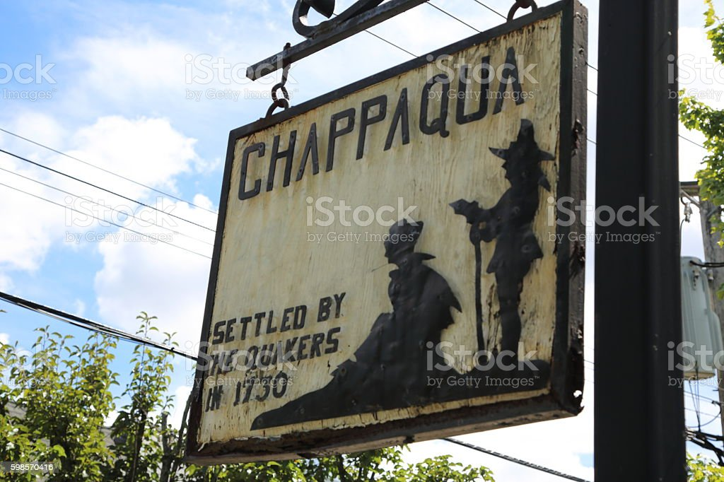 Chappaqua Settled by the Quakers in 1730 stock photo