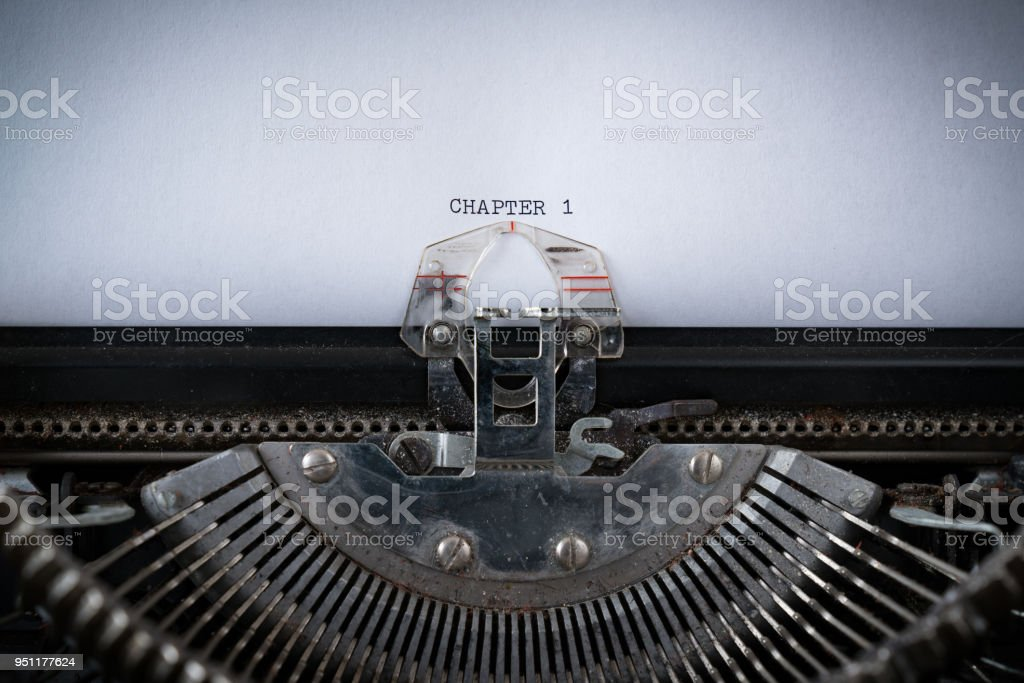 Chapter 1 Typed on Typewriter stock photo