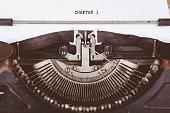 istock Chapter 1 written on old typewriter. 1277649854