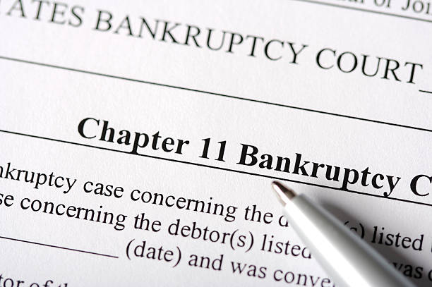 chapter 11 bankruptcy paperwork - bankruptcy stock pictures, royalty-free photos & images