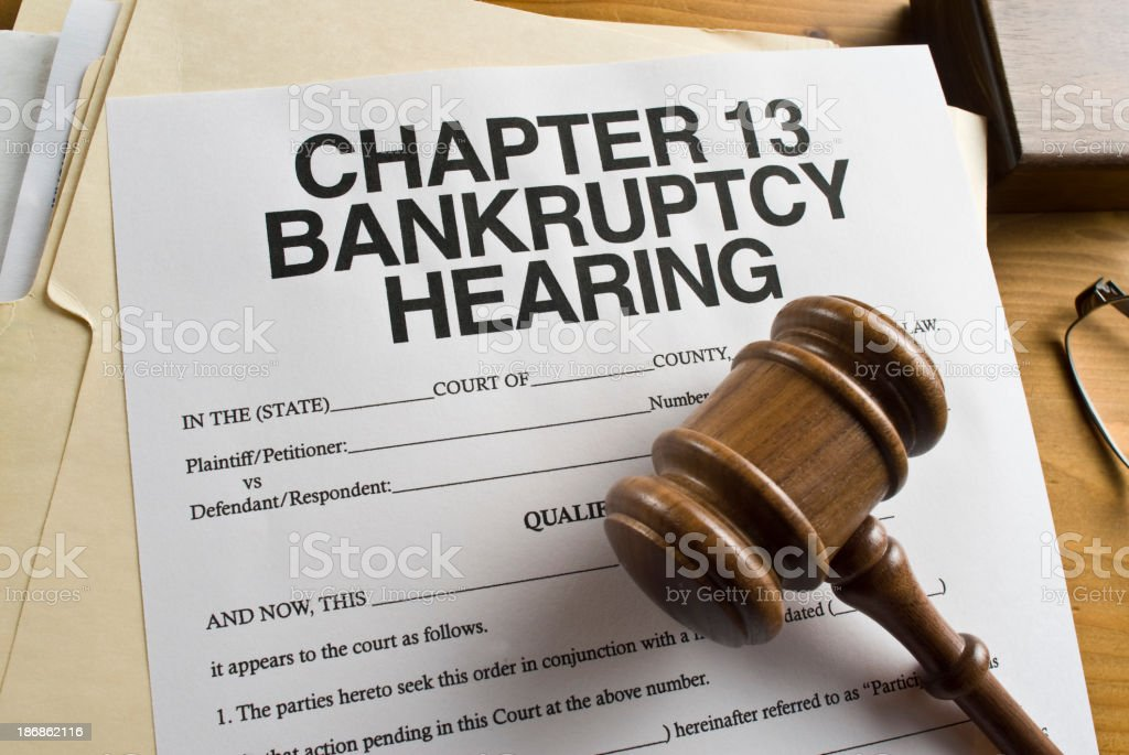 Chapter 13 Bankruptcy. stock photo