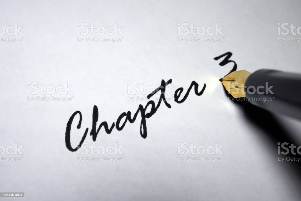 Chapter 3 stock photo