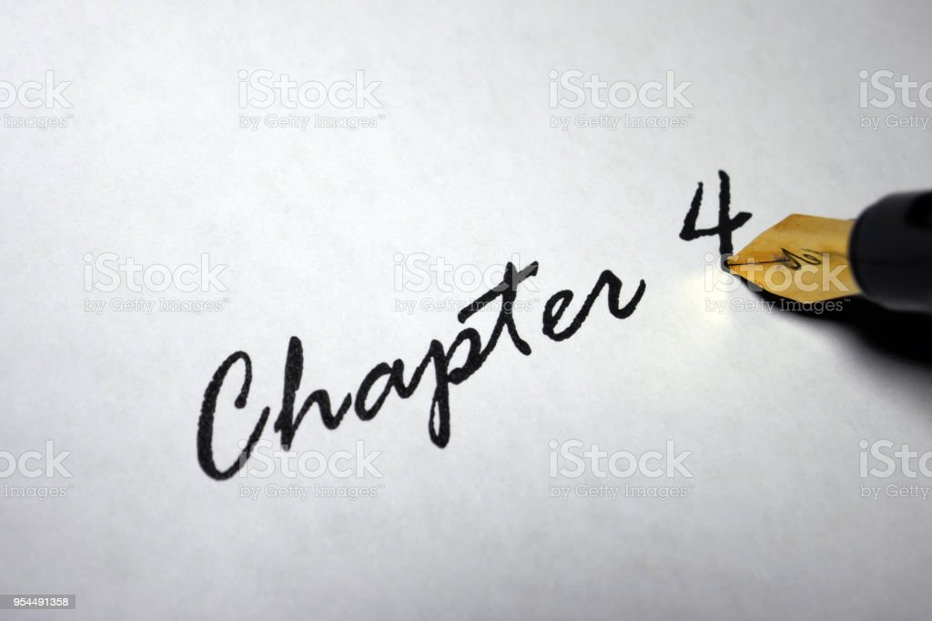 Chapter 4 stock photo