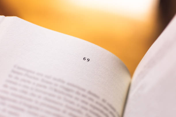 chapter 69 of a reading book - number 69 stock photos and pictures