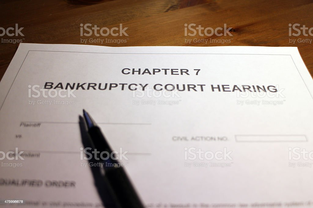Chapter 7 - Bankruptcy Court Hearing stock photo