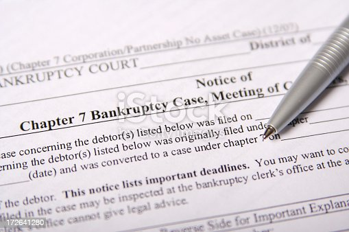 United States legal documents focused on Chapter 7 Bankruptcy.