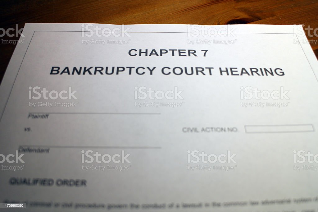 Chapter 7 - Bankruptcy stock photo