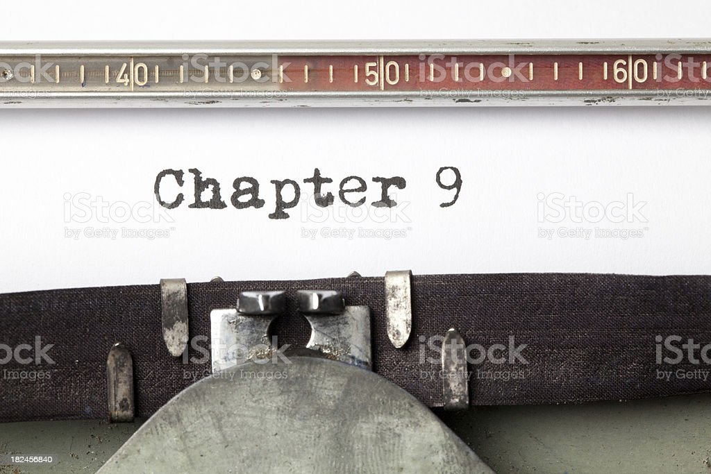 Chapter 9 royalty-free stock photo