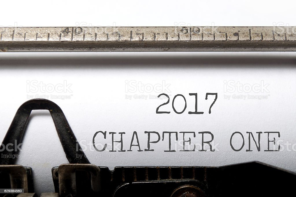 Chapter one 2017 stock photo