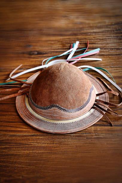 chapéu de vaqueiro nordestino 1 - nordeste - fotografias e filmes do acervo