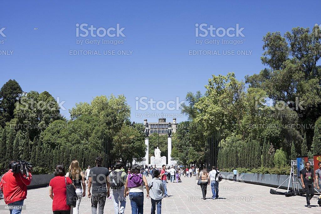 Chapultepec park and castle royalty-free stock photo