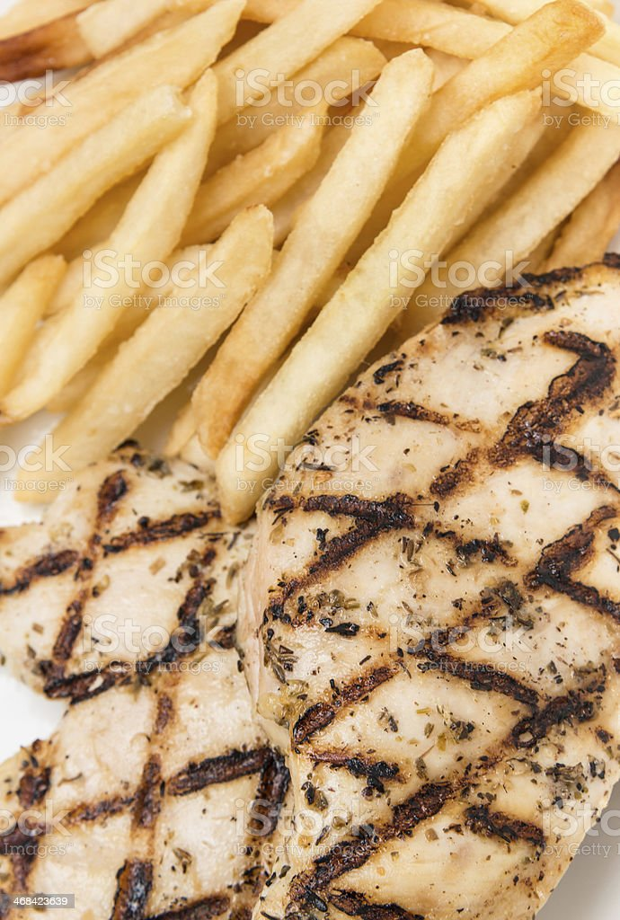 Char Grilled chicken breast royalty-free stock photo