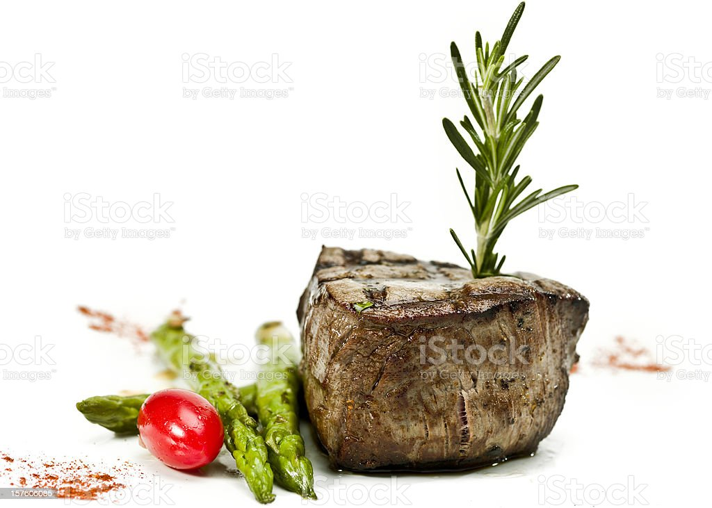 char grilled Fillet Mignon royalty-free stock photo