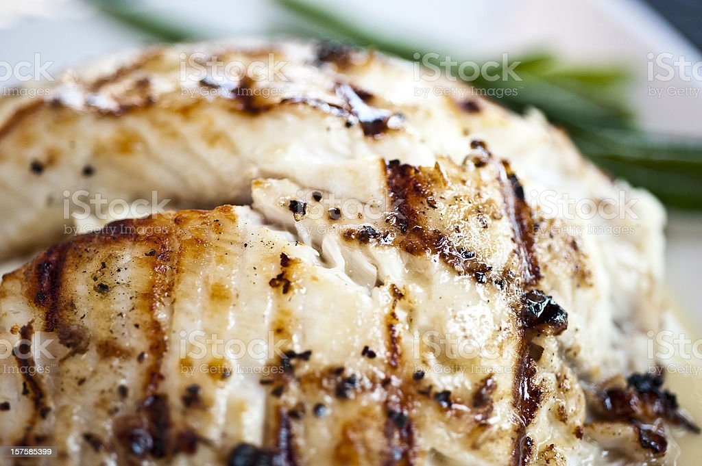 Char grilled fillet of fish royalty-free stock photo