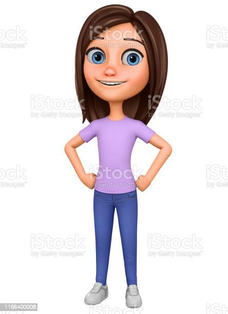 Character cartoon girl on a white background illustration for picture id1166400008?b=1&k=6&m=1166400008&s=612x612&h=59msmimk3l7tgtgrs5vqsrdzpt6gltk1ot3l3gyen 0=