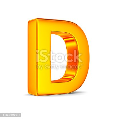 184385936 istock photo Character D on white background. Isolated 3D illustration 1160355391