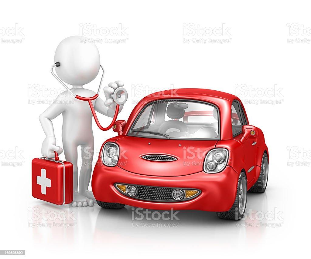 character doctor examine car royalty-free stock photo