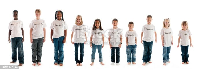 A group of diverse children with character traits. - Buy credits