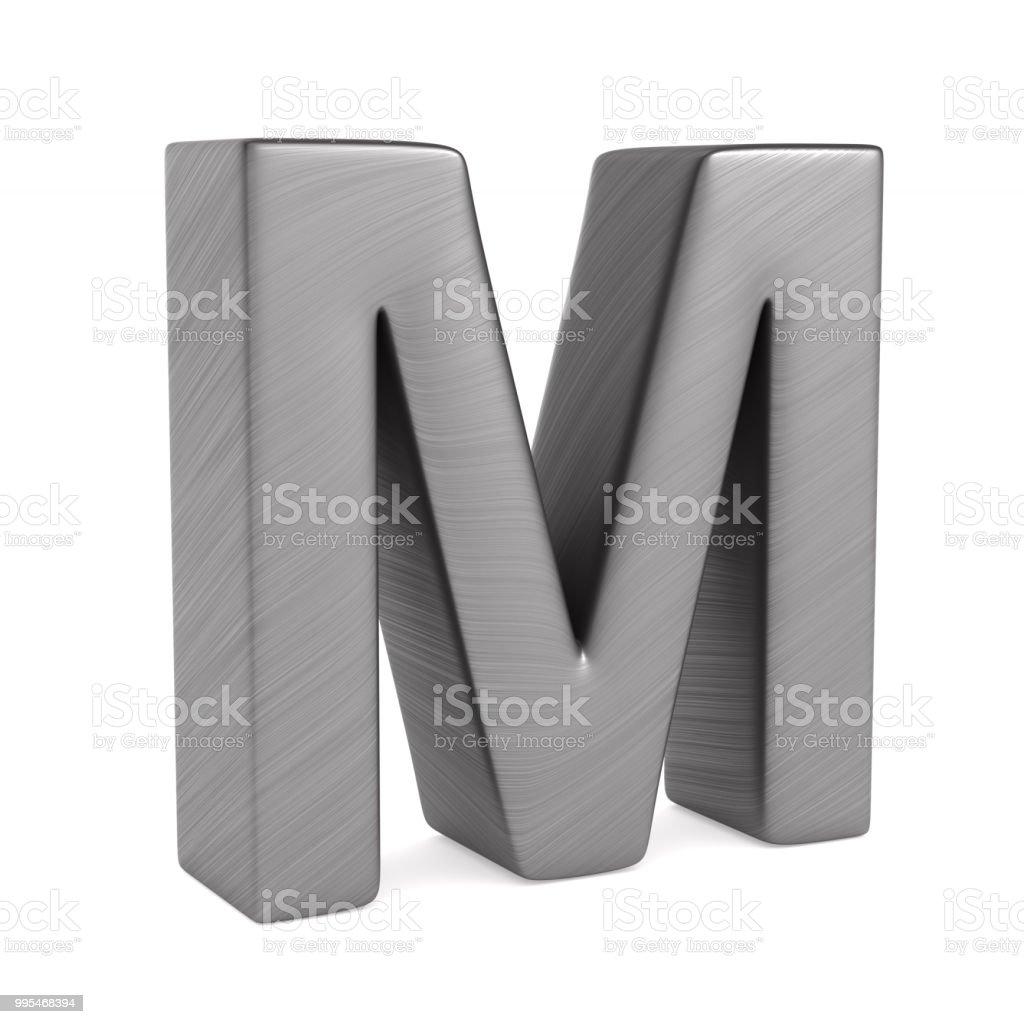 M Zeichen auf weißem Hintergrund. Isolierte 3D-Illustration – Foto