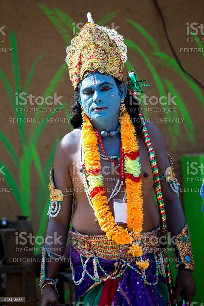 Character of Rama in a fair, Surajkund, Faridabad, Haryana, India stock photo