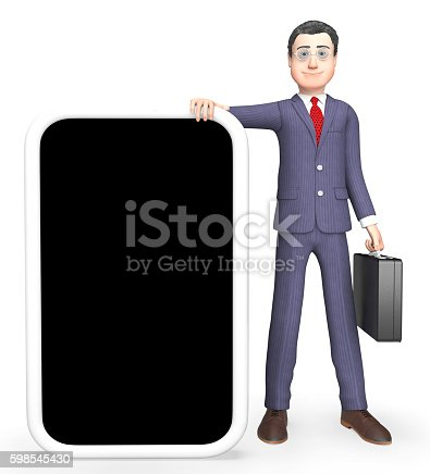 Online Copyspace Showing World Wide Web And Business Person 3d Rendering