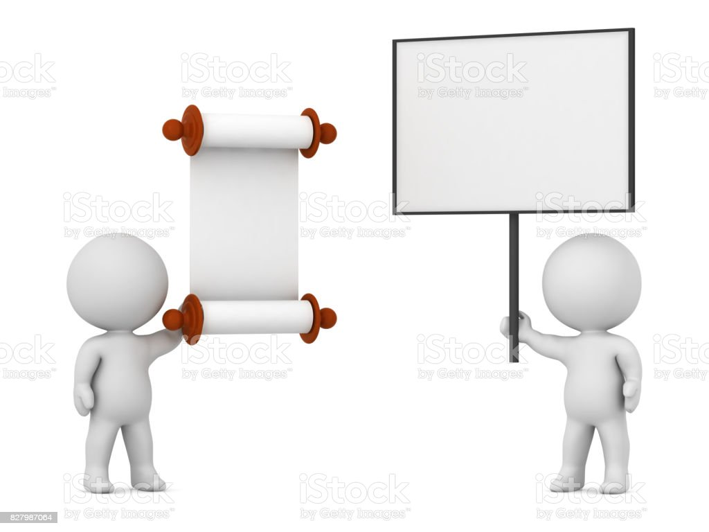 3D Character Protesting Against a Law stock photo