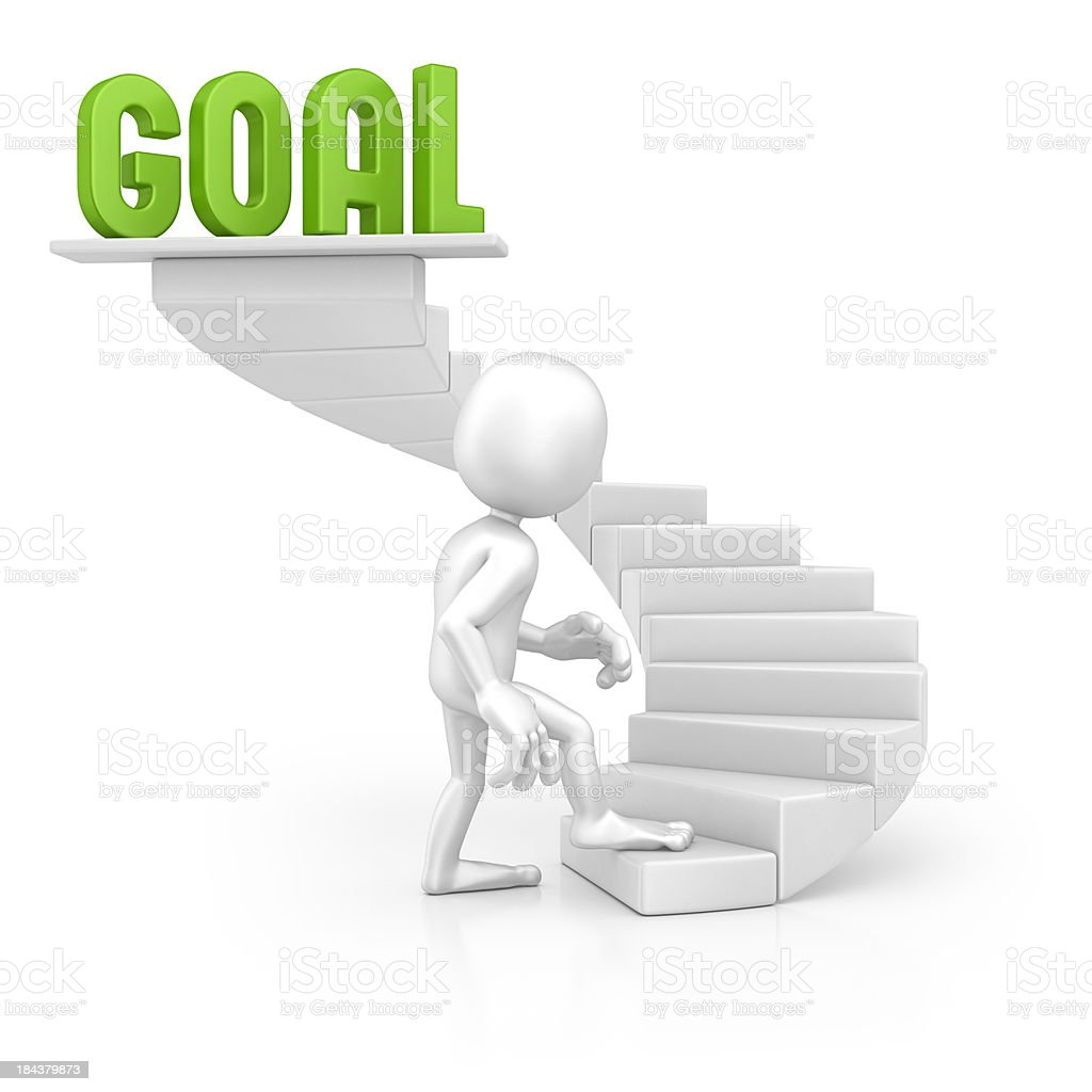 character walking on the goal royalty-free stock photo