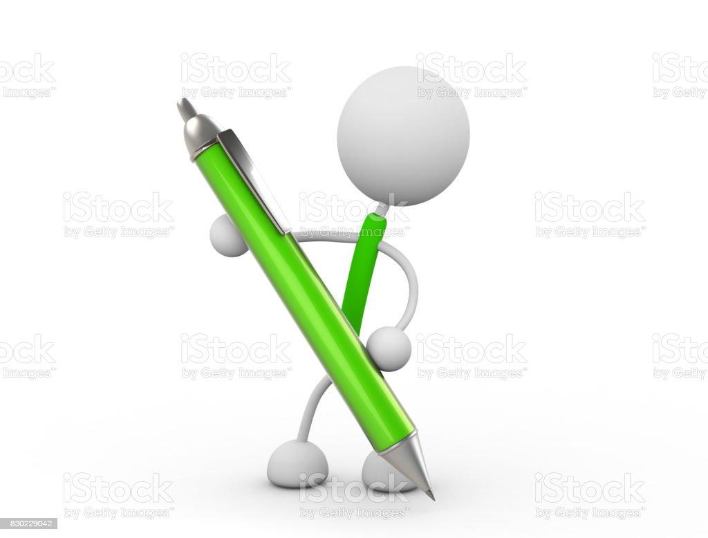 Caractère avec stylo - Photo