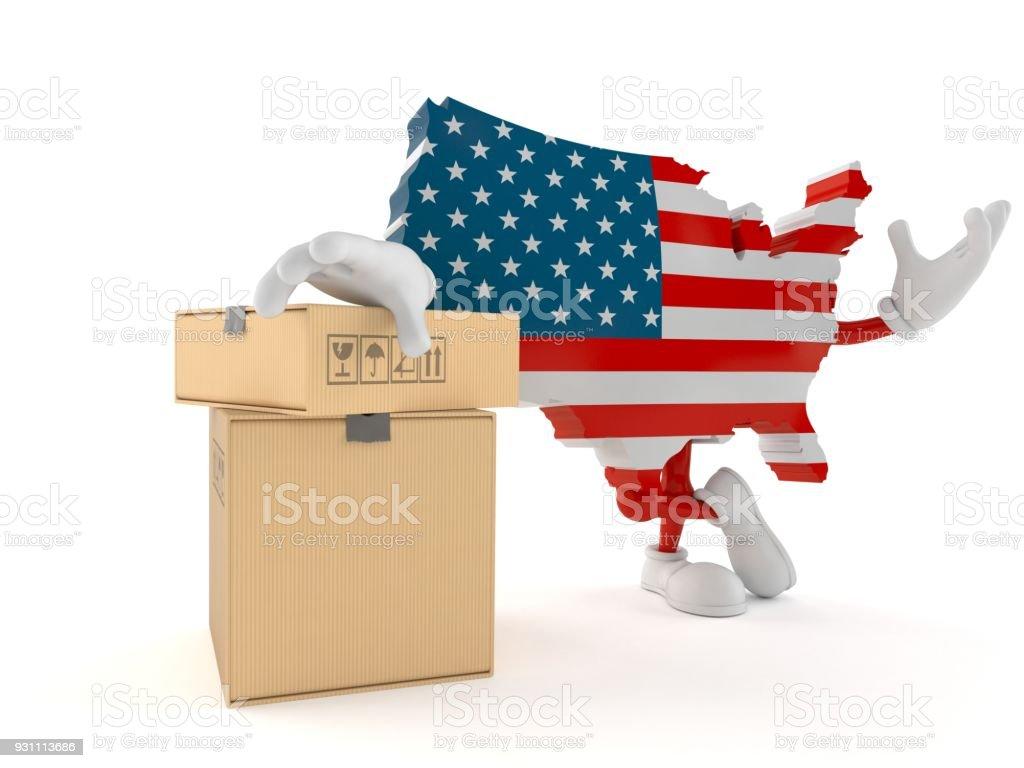 ABD karakter kutuları yığını ile - Royalty-free ABD Stok görsel