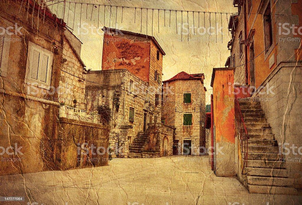 Characteristic Croatian Courtyard Stock Photo & More