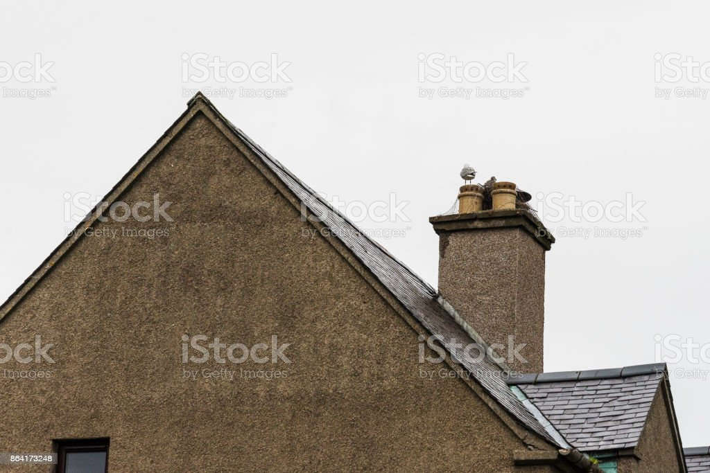 characteristic Scottish village in the highlands royalty-free stock photo