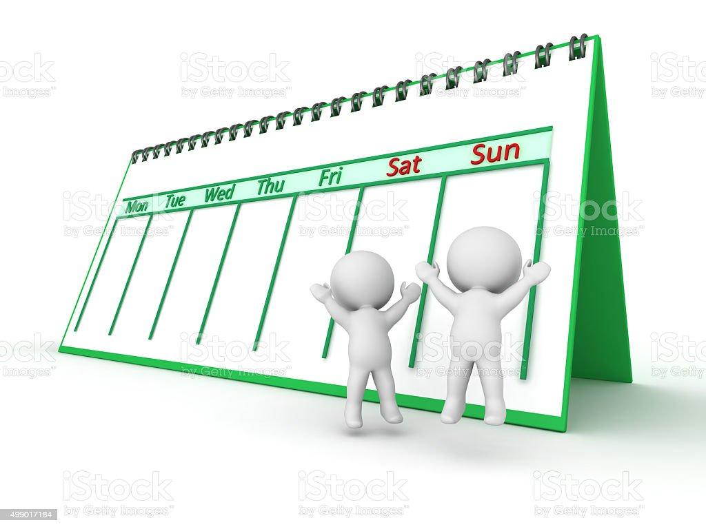 weekend calendar