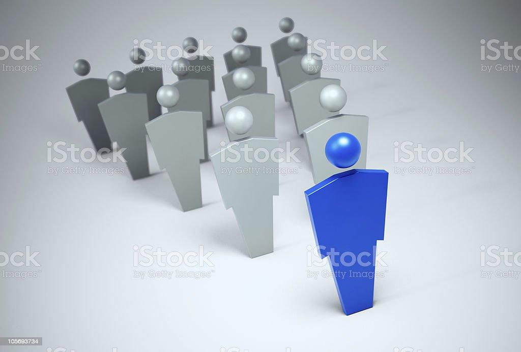 3 D Zeichen-leader-Konzept – Foto