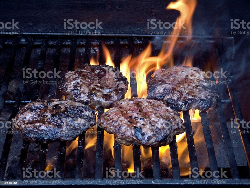 Char-broiled royalty-free stock photo